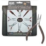 Beader tool set  - met 8 tangen - bruin
