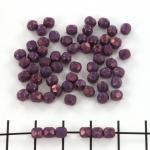 Tsjechisch facet rond 4 mm - paars vega luster