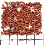 Czech faceted round 2 mm - bronze fire red