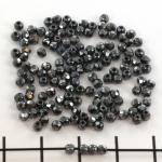 Tsjechisch facet rond 2 mm - hematite