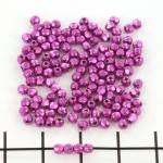 Tsjechisch facet rond 2 mm - saturated metallic pink yarrow