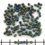 Czech faceted round 3 mm - matte iris green
