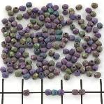 Czech faceted round 3 mm - matte iris purple