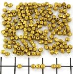 Czech faceted round 3 mm - matte metallic aztec gold