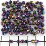 Czech faceted round 4 mm - iris purple