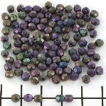 Tsjechisch facet rond 4 mm - matte iris purple