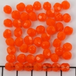 Czech faceted round 6 mm - orange yellow amber opal