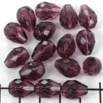 Tsjechisch facet druppel 13 mm - paars amethyst