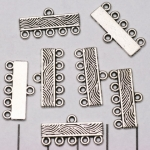 tussenzetsel versierd 1-5 gats indeling - zilver