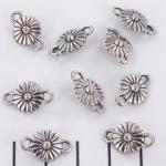 tussenzetsel madelief bloementje - zilver
