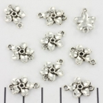 connector little flower 16 mm - silver