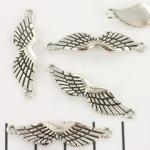 tussenzetsel vleugels - zilver 35mm