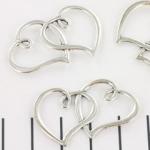 tussenzetsel hartjes - zilver 35mm