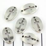 tussenzetsel kruis 20 mm - zilver
