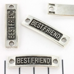 tussenzetsel quote rond gat - Best friend zilver 35mm