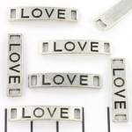 tussenzetsel quote vierkant gat - love zilver 28mm