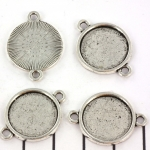 tussenzetsel plat rond 26 mm - zilver