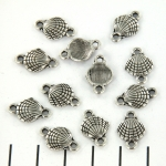 connector seashell round - silver