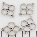 tussenzetsel cirkels - zilver