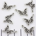 connector butterfly - silver