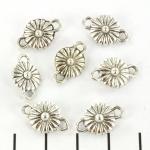 tussenzetsel madelief bloemetje - zilver