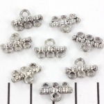 connector 10 mm 1-3 hole - antique silver