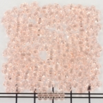 two hole bead 5 mm - light pink rosaline