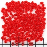 two hole bead 5 mm - red siam