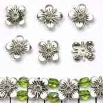 verdeler bloem 11 mm - zilver
