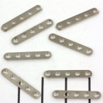 spacer flat thin 5 holes - short silver