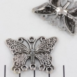 charm butterfly - silver