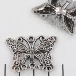 hanger vlinder - zilver