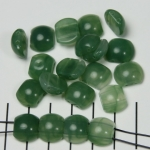 spacer acrylic gemstone flat oval - dark green