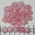 spacer acrylic gemstone flat oval - rose