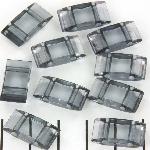 verdeler tragerperlen - transparant grey