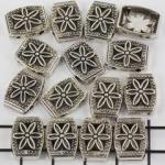 verdeler met bloem 14 mm - zilver