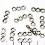 verdeler cirkels - zilver 3 gats