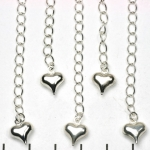 extension chain silver extra strong - heart
