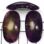 space acrylic gemstone 37 mm - purple with golden shine