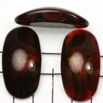 space acrylic gemstone 37 mm - red shell shine