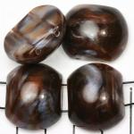 verdeler kunststof natuurstenen 24 mm - bruin schelpenglans