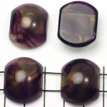 spacer acrylic gemstone 24 mm - purple with shell shine
