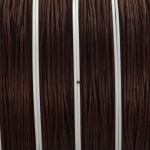 waxed cord 1 mm - mid dark brown