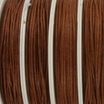 waxed cord 1 mm - brown