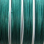waxed cord 1 mm - petrol green