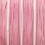 waxed cord 1 mm - rose