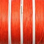 waxed cord 1 mm - orange