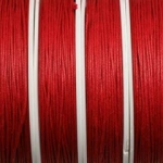 waxed cord 1 mm - red