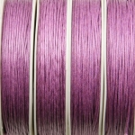 waxed cord 1 mm - pink