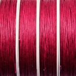 waxed cord 1 mm - dark pink red